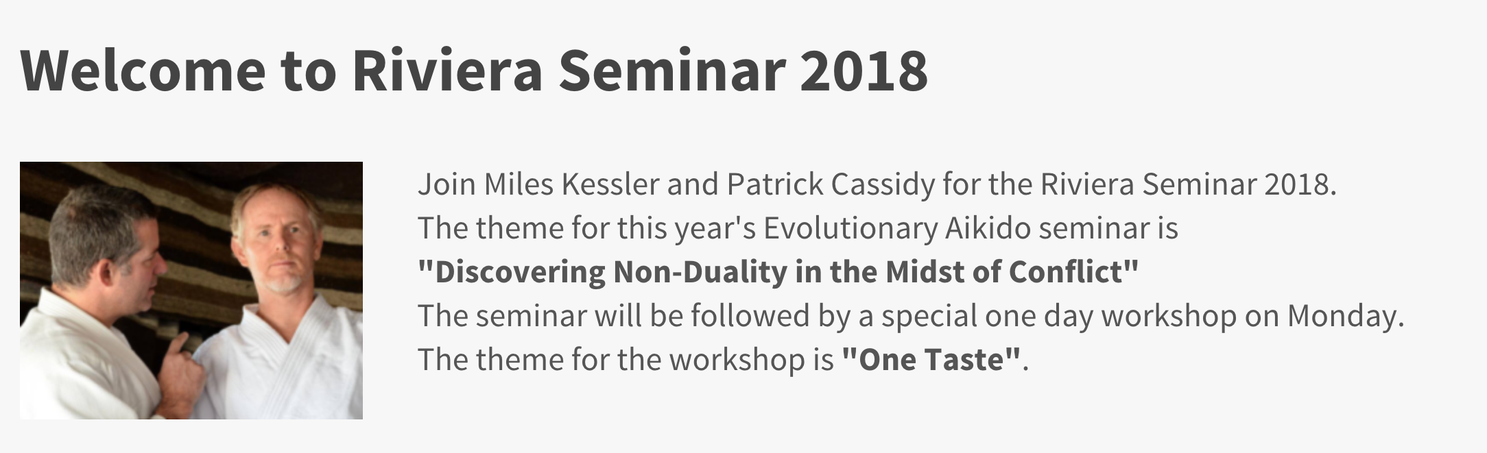 """Patrick Cassidy & Miles Kessler On """"Aikido & Non-Duality"""""""